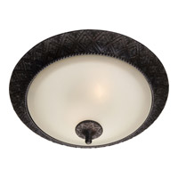 Symphony 2 Light 19 inch Oil Rubbed Bronze Flush Mount Ceiling Light in Soft Vanilla