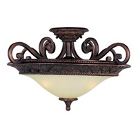 Maxim Lighting Symphony 3 Light Semi Flush Mount in Oil Rubbed Bronze 11241SVOI