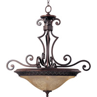 Symphony 3 Light 27 inch Oil Rubbed Bronze Pendant Ceiling Light in Screen Amber