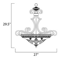 Maxim Lighting Symphony 3 Light Pendant in Oil Rubbed Bronze 11242SAOI alternative photo thumbnail