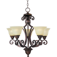 Maxim Lighting Symphony 5 Light Single Tier Chandelier in Oil Rubbed Bronze 11244SVOI