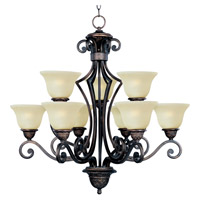Maxim Lighting Symphony 9 Light Multi-Tier Chandelier in Oil Rubbed Bronze 11245SVOI photo thumbnail