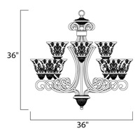 Maxim Lighting Symphony 9 Light Multi-Tier Chandelier in Oil Rubbed Bronze 11245SAOI alternative photo thumbnail