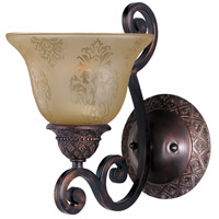 Maxim 11246SAOI Symphony 1 Light 7 inch Oil Rubbed Bronze Wall Sconce Wall Light in Screen Amber photo thumbnail