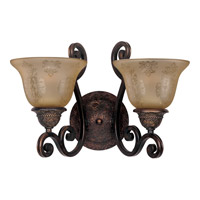 Symphony 2 Light 16 inch Oil Rubbed Bronze Wall Sconce Wall Light in Screen Amber