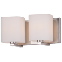 Maxim 11252SWSN Wrap 2 Light 13 inch Satin Nickel Bath Vanity Wall Light