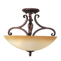 Maxim Lighting Bolero 3 Light Semi-Flush Mount in Oil Rubbed Bronze 11291WSOI photo thumbnail