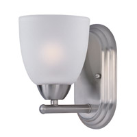 Axis 1 Light 5 inch Satin Nickel Bath Vanity Wall Light