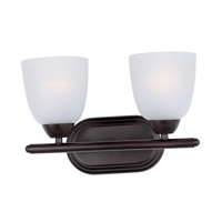 Maxim Lighting Axis 2 Light Bath Vanity in Oil Rubbed Bronze 11312FTOI