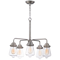 Maxim 11335CLWZ Cape Cod 5 Light 26 inch Weathered Zinc Chandelier Ceiling Light