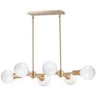 Maxim 11346SBR Molecule 6 Light 35 inch Satin Brass Linear Pendant Ceiling Light