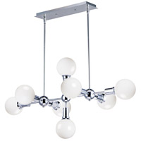 Maxim 11348PC Molecule 8 Light 39 inch Polished Chrome Linear Pendant Ceiling Light