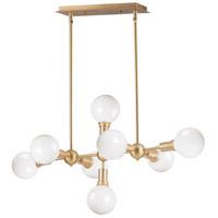 Maxim 11348SBR Molecule 8 Light 39 inch Satin Brass Linear Pendant Ceiling Light