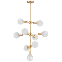 Molecule 9 Light 27 inch Satin Brass Entry Foyer Pendant Ceiling Light