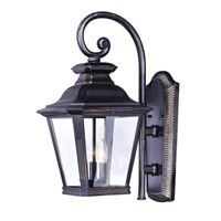 Maxim 1135CLBZ Knoxville 3 Light 19 inch Bronze Outdoor Wall Sconce