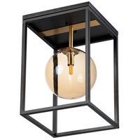 Maxim 11360CMPBKSBR Fluid LED 10 inch Black and Satin Brass Single Pendant Ceiling Light in Champagne