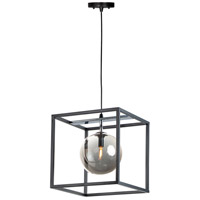 Maxim 11364MSKBKPC Fluid LED 12 inch Black and Polished Chrome Single Pendant Ceiling Light in Mirror Smoke