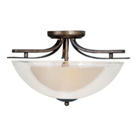 Maxim Lighting Duo 2 Light Semi Flush Mount in Auburn Dusk 11521TCAD
