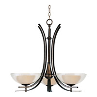 Maxim Lighting Duo 3 Light Single-Tier Chandelier in Auburn Dusk 11524TCAD