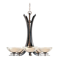 Maxim Lighting Duo 5 Light Single-Tier Chandelier in Auburn Dusk 11525TCAD