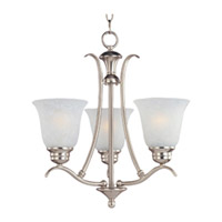Maxim Lighting Piedmont 3 Light Mini Chandelier in Satin Nickel 11541ICSN