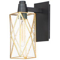 Maxim 11563CDBKBUB Norfolk 1 Light 13 inch Black and Burnished Brass Outdoor Wall Mount