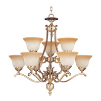 Maxim Lighting Boca 9 Light Multi-Tier Chandelier in Light Gold 11675LTLG photo thumbnail