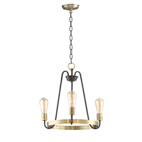 Maxim 11733OIAB Haven 3 Light 19 inch Oil Rubbed Bronze and Antique Brass Single-Tier Chandelier Ceiling Light