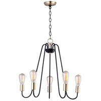Maxim 11735OIAB Haven 5 Light 24 inch Oil Rubbed Bronze and Antique Brass Single-Tier Chandelier Ceiling Light