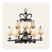 Maxim Lighting Marcus 9 Light Multi-Tier Chandelier in Burnt Sienna 11755PABT