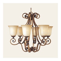 Maxim Lighting La Scalla 6 Light Single Tier Chandelier in Gold Umber 11764WSGU photo thumbnail