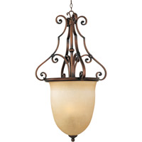 La Scalla 3 Light 22 inch Weathered Copper Pendant Ceiling Light