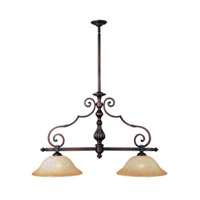 Maxim Lighting La Scalla 2 Light Island Pendant in Weathered Copper 11769MCWC photo thumbnail