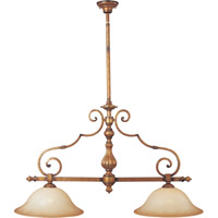 Maxim Lighting La Scalla 2 Light Island Pendant in Gold Umber 11769WSGU