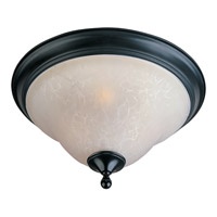 Linda 3 Light 16 inch Black Flush Mount Ceiling Light