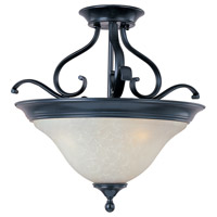 Linda 3 Light 19 inch Black Semi Flush Mount Ceiling Light