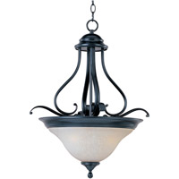 Linda 3 Light 19 inch Black Pendant Ceiling Light in Ice