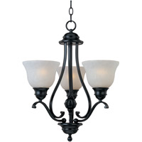 Maxim 11804ICBK Linda 3 Light 19 inch Black Mini Chandelier Ceiling Light