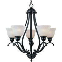 Linda 5 Light 26 inch Black Single Tier Chandelier Ceiling Light