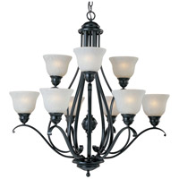 Linda 9 Light 33 inch Black Multi-Tier Chandelier Ceiling Light