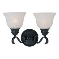 Linda 2 Light 15 inch Black Bath Light Wall Light in Ice