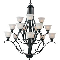 Linda 15 Light 46 inch Black Multi-Tier Chandelier Ceiling Light