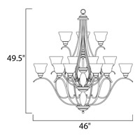 Maxim Lighting Linda 15 Light Multi-Tier Chandelier in Black 11809ICBK alternative photo thumbnail