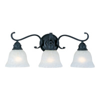 Linda 3 Light 24 inch Black Bath Light Wall Light in Ice