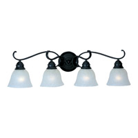 Linda 4 Light 32 inch Black Bath Light Wall Light in Ice