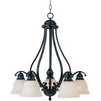 Linda 5 Light 25 inch Black Down Light Chandelier Ceiling Light in Ice