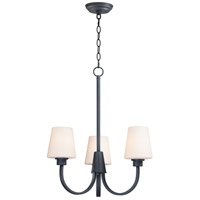 Maxim 11823SWBK Shelter 3 Light 20 inch Black Chandelier Ceiling Light