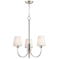Maxim 11823SWSN Shelter 3 Light 20 inch Satin Nickel Chandelier Ceiling Light