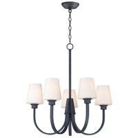 Maxim 11825SWBK Shelter 5 Light 27 inch Black Chandelier Ceiling Light