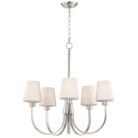 Maxim 11825SWSN Shelter 5 Light 27 inch Satin Nickel Chandelier Ceiling Light